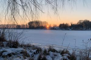 Kruszwica o zachodzie słońca - 4