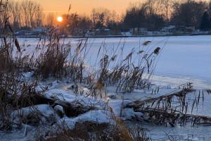 Kruszwica o zachodzie słońca - 6