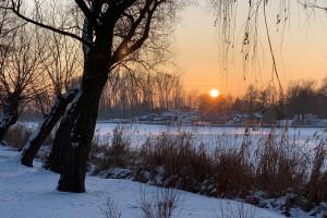 Kruszwica o zachodzie słońca - 16