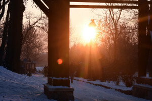 Kruszwica o zachodzie słońca - 2