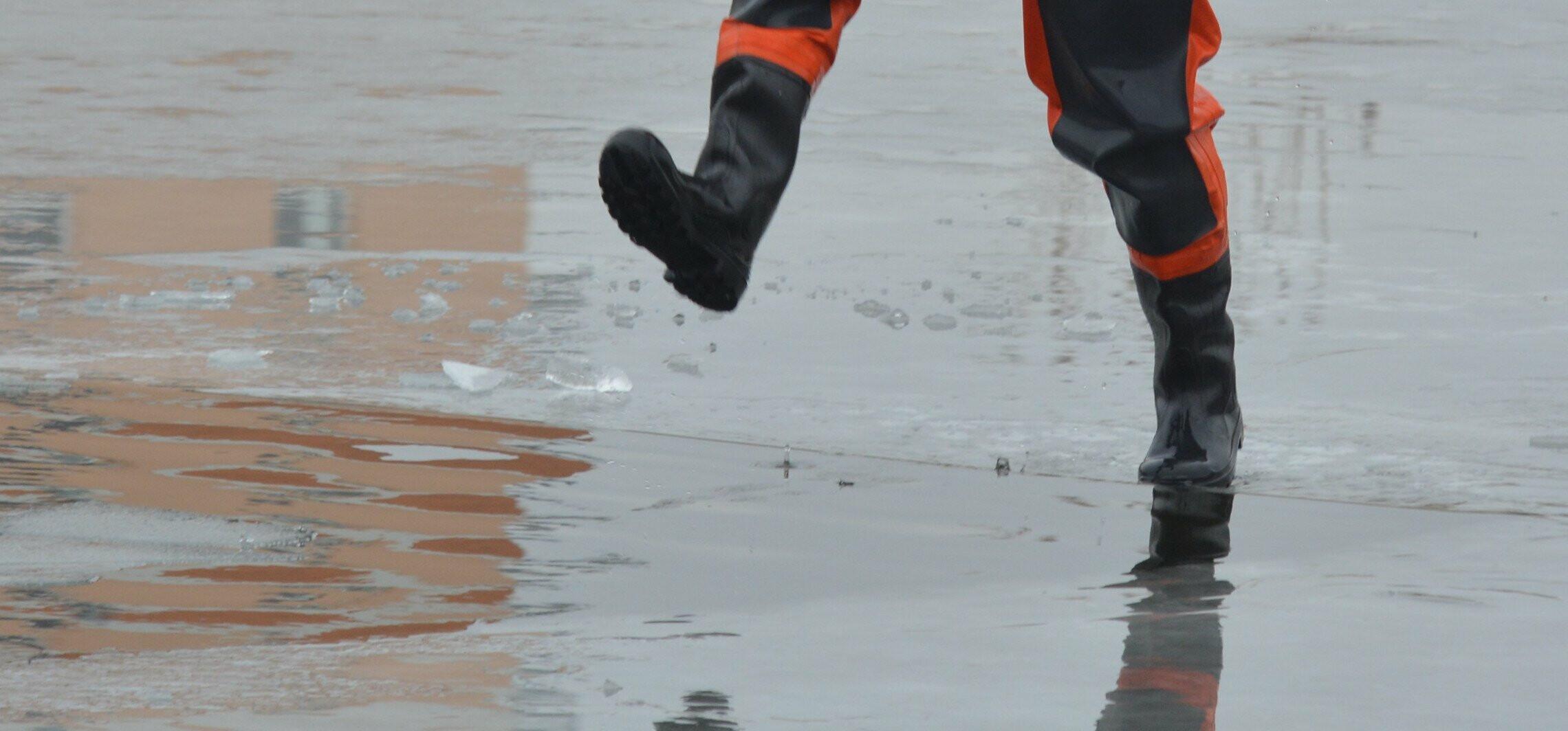 Inowrocław - Policja ostrzega przed wchodzeniem na lód