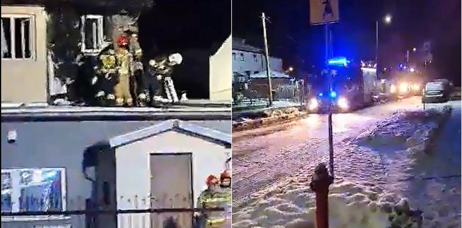 Inowrocław - Nocny pożar domu na Przypadku