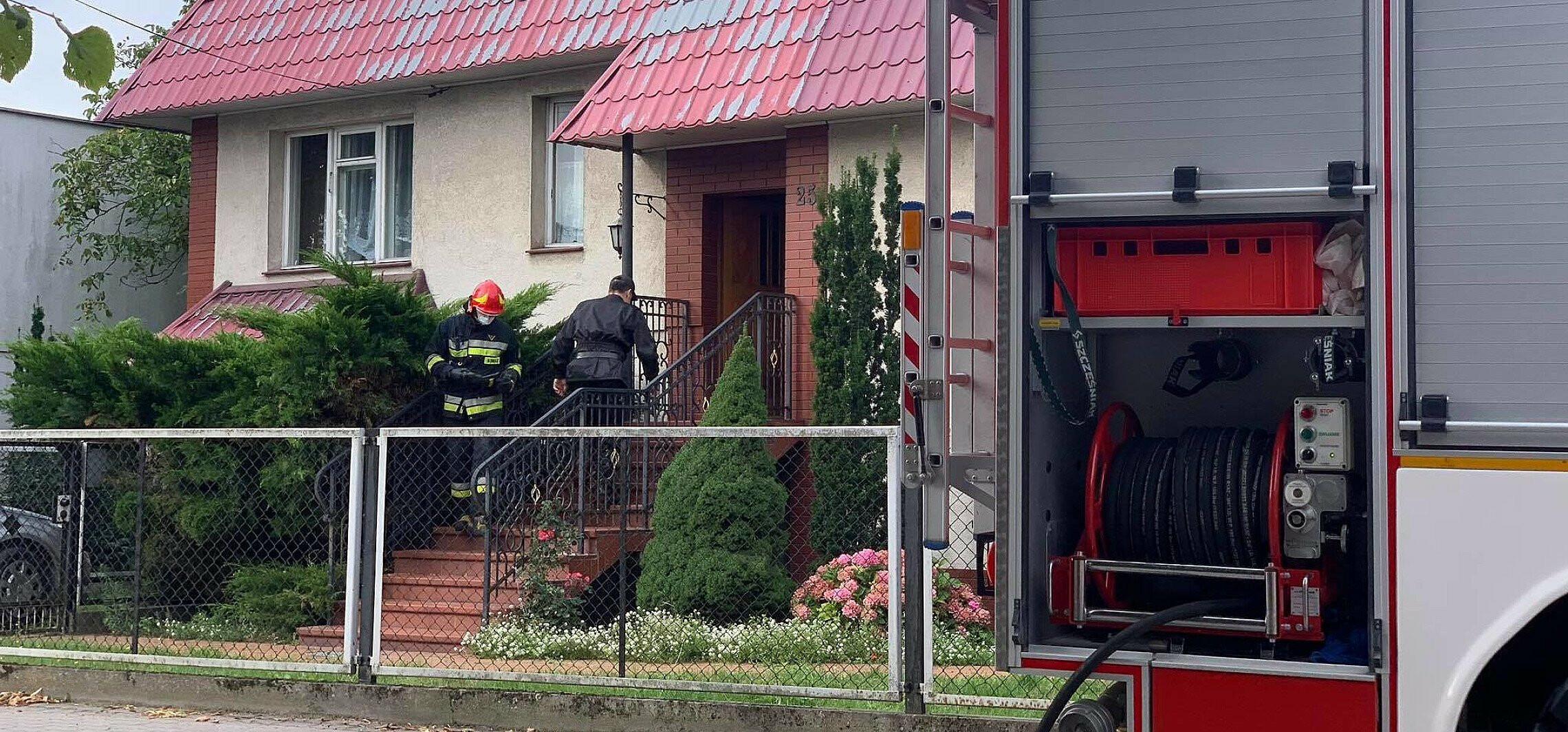 Pożar w domu jednorodzinnym w Pakości